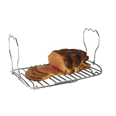 Expandable Roasting Rack in Chrome