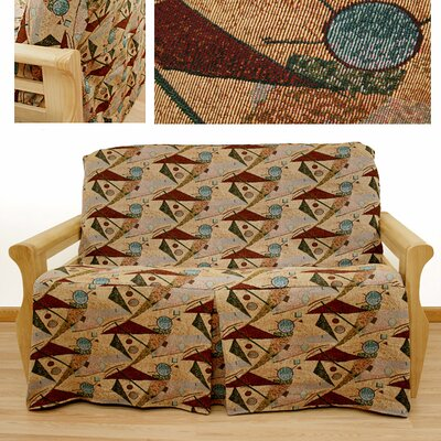Easy Fit Mardi Gras Skirted Futon Cover