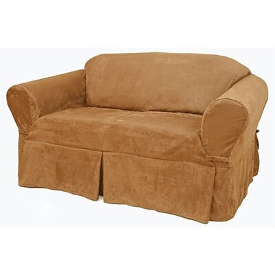 Suede sofa slipcover wayfair for Suede slipcovers
