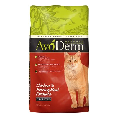 AvoDerm Natural Chicken and Herring Meal Adult Formula Cat Food