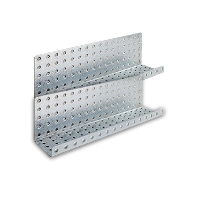 Alligator Board Galvanized Steel Pegboard Shelves