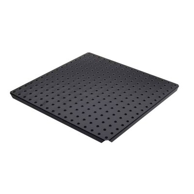 Alligator Board Metal Pegboard Panels with Flange in Black