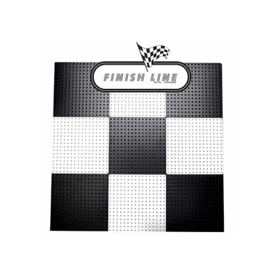 Alligator Board Powder Coated Metal Pegboard Panels with Flange in Black and White