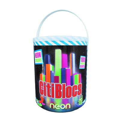 Citiblocs 100 Piece Neon Colors Construction Set