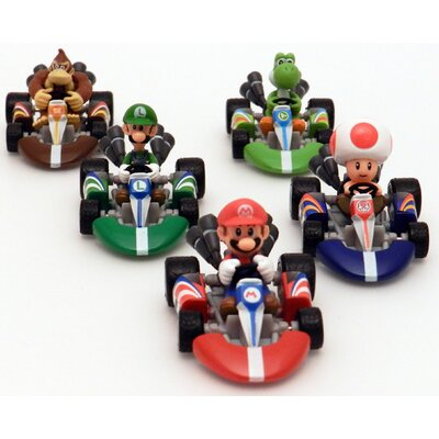 Mario Kart Die Cast Racing Vehicle Set (Set of 5)