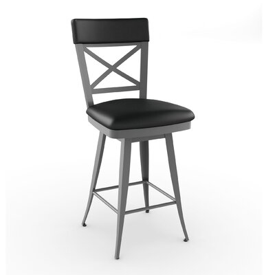 Amisco Library Luxe Style Windsor Swivel Stool