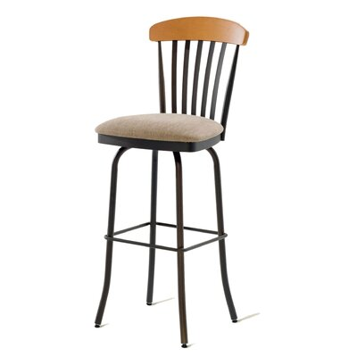 "Amisco Tammy 34"" Swivel Barstool with Memory Return"