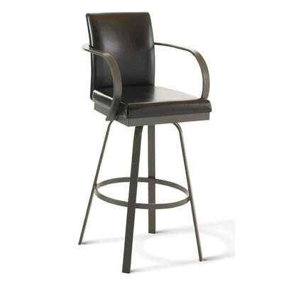 "Amisco Lance 26"" Swivel Counter Stool"