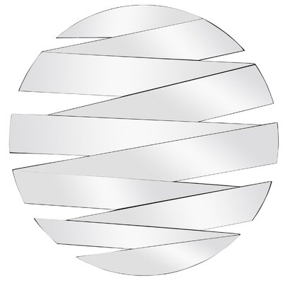 Contemporary Round Panel Wall Mirror