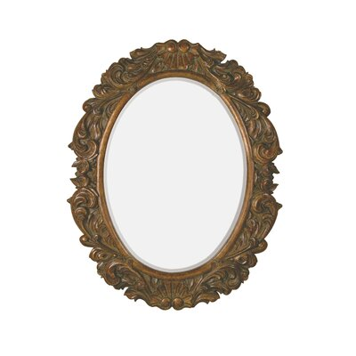 Traditional Beveled Mirror with Rottenstone in Dark Walnut