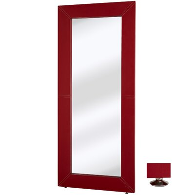 Majestic Mirror Contemporary Leather Plain Mirror in Red