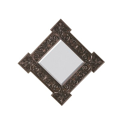 Majestic Mirror Traditional Square Bevel Wall Mirror