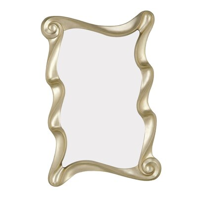Majestic Mirror Contemporary Rectangular Scroll Wall Mirror
