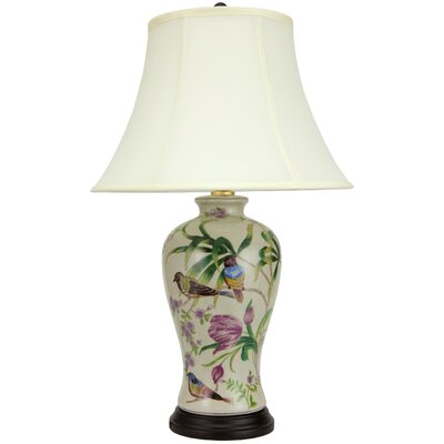 "Oriental Furniture Floral Porcelain 29.5"" H Table Lamp ..."