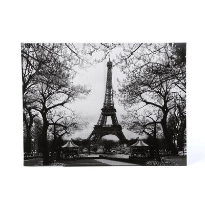 Eiffel Tower Park Canvas Wall Art - 23.5