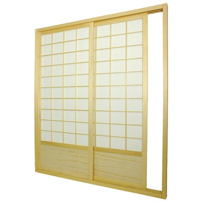 Oriental Furniture Single Sided Sliding Door  Shoji Room Divider in Natural