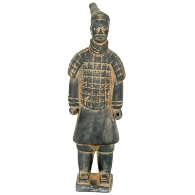 "Oriental Furniture 14"" Xian Terra Cotta Warrior Statue"