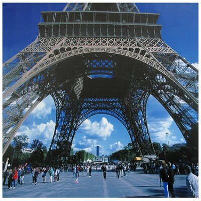 Oriental Furniture Eiffel Tower Canvas Wall Art