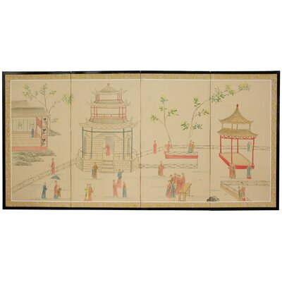 Enter The Pagoda 4 Panel Room Divider