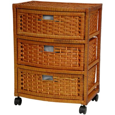 "Oriental Furniture 23"" Chest of Drawers in Honey"
