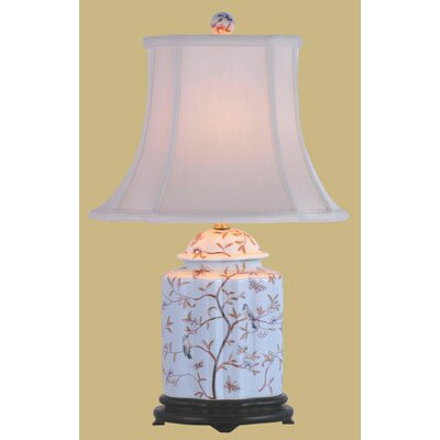 Oriental Furniture Porcelain Scallops Tea Jar Table Lamp