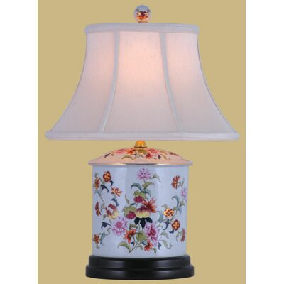 Oriental Furniture Oval Jar Table Lamp