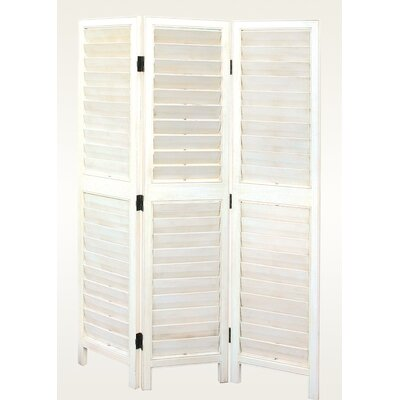 Oriental Furniture Viennese Louvre Screen in White