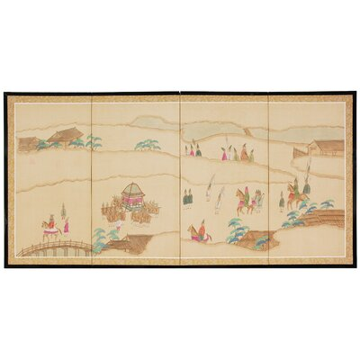 "Oriental Furniture 36"" x 72"" Crossing The Heavens 4 Panel Room Divider"