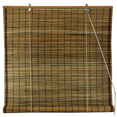 Oriental Furniture Burnt Bamboo Roll Up Blinds in Tortoise