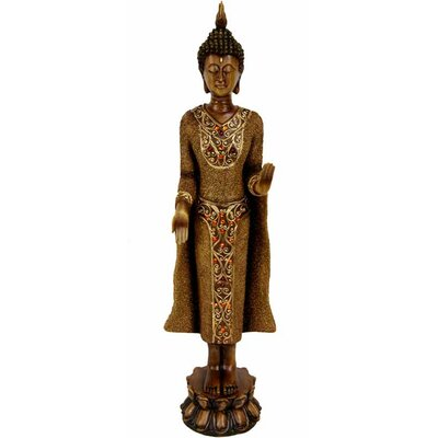 Oriental Furniture Standing Thai Buddha Figurine