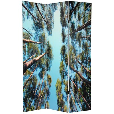 Oriental Furniture Double Sided Trees Room Divider