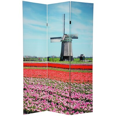 Oriental Furniture Double Sided Windmills Room Divider
