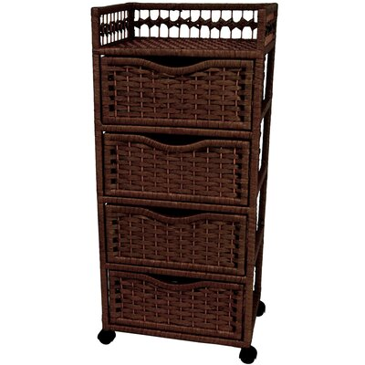 Oriental Furniture Natural Fiber 4 Drawer Chest