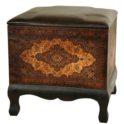 Oriental Furniture Olde-Worlde Baroque Cube Ottoman