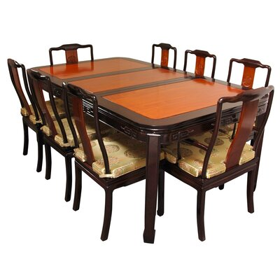 Oriental Furniture 9 Piece Dining Set