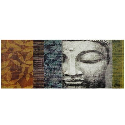 "Oriental Furniture Buddha Statue Canvas Wall Art - 15.75"" x 39.25"""