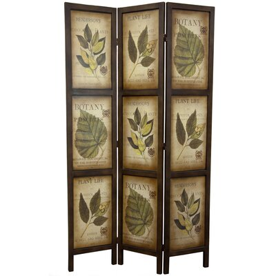 Double Sided Botanic Printed 3 Panel Room Divider