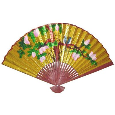 Oriental Furniture Two Love Birds Small Wall Fan