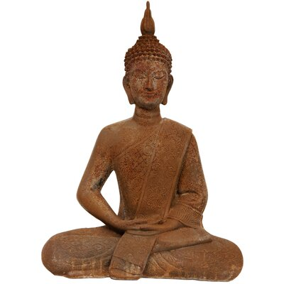 "Oriental Furniture 11"" Thai Sitting Zenjo Buddha Statue"