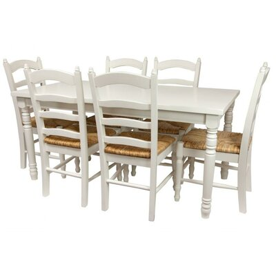 Oriental Furniture Classic 7 Piece Dining Set