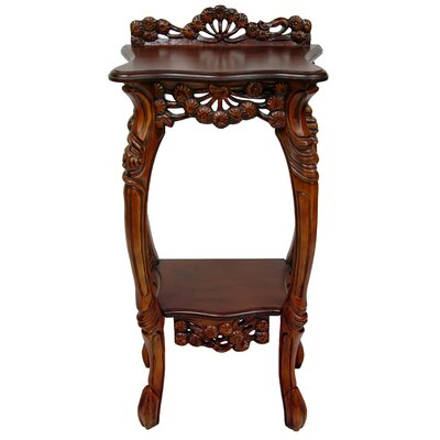 Carved Plant Stand Wayfair