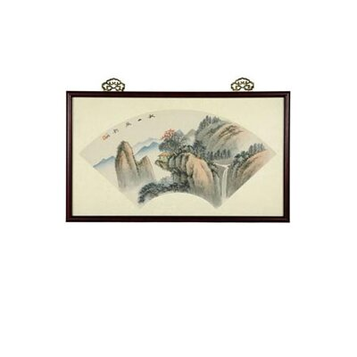 Oriental Furniture Mountain Retreat Oriental Watercolor Painting