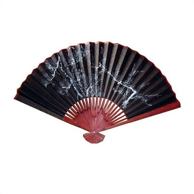 Oriental Furniture Black And White Decorative Oriental Fan