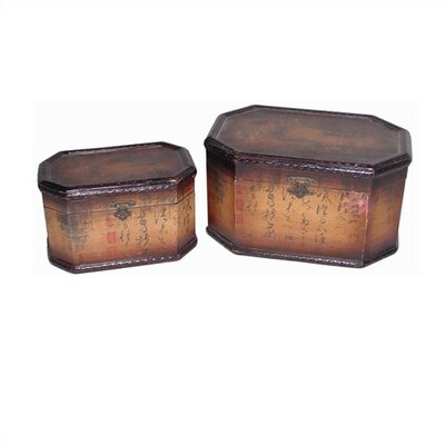 Oriental Furniture Eight Corner Storage Box Set