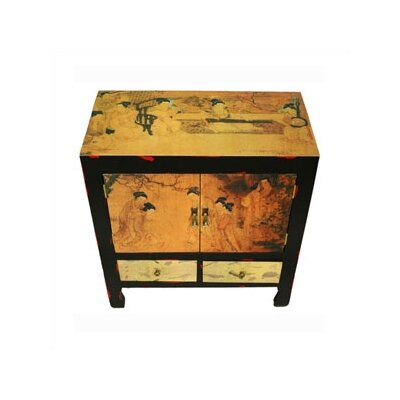 Oriental Furniture Angels In The Garden End Table