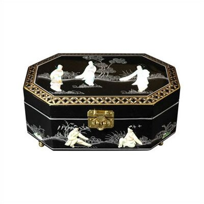 Oriental Furniture Violetta Asian Jewelry Box