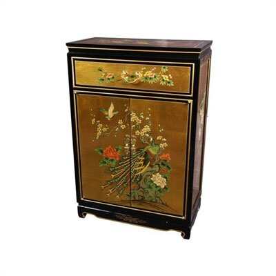 Asian Leaf Shoe Cabinet