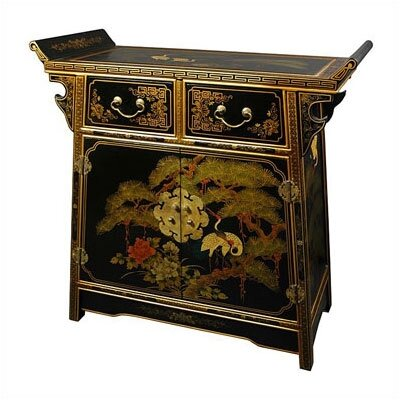 Asian 2 Drawer Altar Cabinet