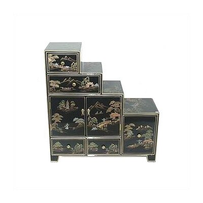 Oriental Furniture Chinese Step Tansu Cabinet