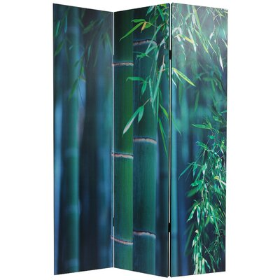 Oriental Furniture Double Sided Bamboo Tree Canvas Room Divider